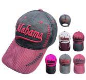 12 Units of Air Mesh ALABAMA Hat - Caps & Headwear