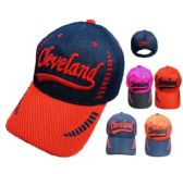 12 Units of Air Mesh CLEVELAND Hat - Caps & Headwear