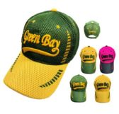 12 Units of Air Mesh GREEN BAY Hat - Caps & Headwear