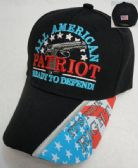 24 Units of ALL AMERICAN PATRIOT-Ready to Defend Hat - Baseball Caps/Snap Backs