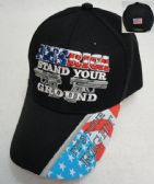 12 Units of AMERICA STAND YOUR GROUND Hat - Baseball Caps/Snap Backs