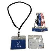 "72 Units of 4""X3.25"" ID HOLDER WITH LANYARD - ID Holders"
