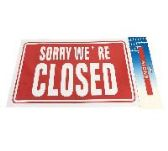 """72 Units of 11.8""""X7.9"""" SIGN [SORRY WE'RE CLOSED] - Sign"""