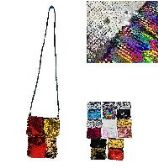 """72 Units of 7.5""""X5.5"""" REVERSIBLE SEQUIN CROSS BODY EVENING BAG - Sign"""