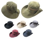 24 Units of Vented Lightweight Adjustable Boonie Hat - Cowboy & Boonie Hat