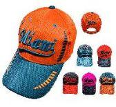 72 Units of AIR MESH MIAMI HAT - Caps & Headwear
