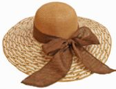 24 Units of Multi Color Large Hat With Bow - Sun Hats