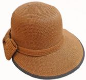 24 Units of Ladies' Sun Hat With. Bow - Sun Hats