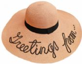24 Units of Large Hat With Greeting - Sun Hats