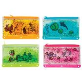 24 Units of Glitter Goo Pencil Pouch - Pencil Grippers / Toppers