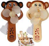 48 Units of Friction Powered Lovey Monkey Mini Fans - Novelties