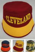 12 Units of Bucket Hat [CLEVELAND B] W/G - Baseball Caps/Snap Backs