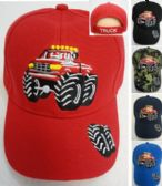 12 Units of Child's Ball Cap [Monster Truck] - Baseball Caps/Snap Backs