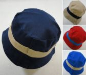 12 Units of Child's Bucket Hat [Two-Tone Solid Color] - Bucket Hats