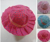 12 Units of Child's Sun Hat [Polka Dot/Ruffle] - Caps & Headwear