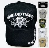 12 Units of COME AND TAKE IT Hat [Skull & Guns] - Baseball Caps/Snap Backs