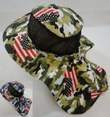 d60885c77d7 12 Units of Cotton Boonie Hat with Cloth Flap  Mesh   Army Camo