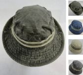 acdf8135620 12 Units of Cotton Washed Floppy Boonie  Double Band  - Cowboy   Boonie Hat