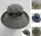 12 Units of Cotton Washed Floppy Mesh Boonie - Caps & Headwear