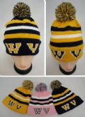 12 Units of Knitted Toboggan with PomPom [WV] - Fashion Winter Hats