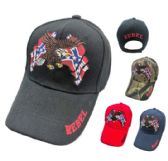 12 Units of Eagle with Double Rebel Flags Hat - Baseball Caps/Snap Backs