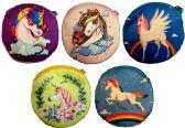 12 Units of Wholesale Cartoon Unicorn Coin Purse Assorted Colors - Leather Purses