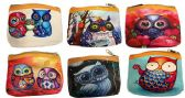 12 Units of Wholesale Cartoon Owl Coin Purse Assorted - PURSES/WALLETS