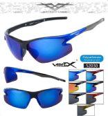 12 Units of Wholesale Sports Wrap Unisex Sunglasses 52030 - Sport Sunglasses