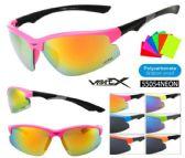 12 Units of  Wholesale Unisex Sports Wrap Half Frame Sunglasses - Sport Sunglasses