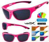 12 Units of Wholesale Neon Frame Unisex Spots Sunglasses - Sunglasses