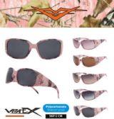 12 Units of Wholesale Rhinestone Pink Camouflage Sunglasses - Sunglasses