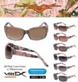 12 Units of  Wholesale Pink Camouflage Sunglasses - Sunglasses