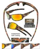 12 Units of  Wholesale Camouflage Leaf Sports Sunglasses - Sport Sunglasses