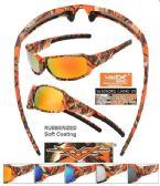 12 Units of Wholesale Orange Camoflage Sports Sunglasses - Sport Sunglasses