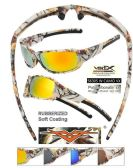 12 Units of Wholesale White Camouflage Sports Sunglasses - Sport Sunglasses
