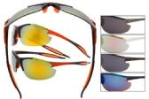 12 Units of Wholesale Sports Wrap Rimless Sunglasses - Sport Sunglasses