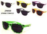 12 Units of Wholesale Colorful Marijua Leaf Printed Retro Revo Sunglasses - Sunglasses