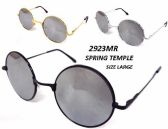 12 Units of Wholesale Circular Mirror Lens Metal Frame Sunglasses - Sunglasses