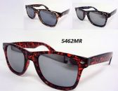 12 Units of Wholesale Wayfarer Style Thick Rim Mirror Lens Sunglasses - Sunglasses