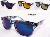 12 Units of Wholesale Wayfarer Style Thick Rim Revo Lens Sunglasses - Sunglasses