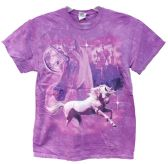 12 Units of Wholesale Tie Dye Pink Unicorn Tshirt Assorted - Mens Shirts