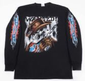 12 Units of Wholesale Long Sleeve Cowboy Skull with Gun Shirts Assorted - Mens Shirts