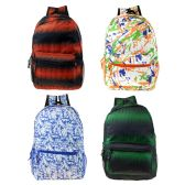 "24 Units of 17"" Wholesale Backpack in 4 Assorted Colors - Backpacks 17"""