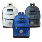 """24 Units of 17"""" Wholesale Backpack in 3 Assorted Space Dye Colors - Backpacks 17"""""""