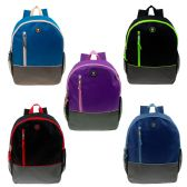 "24 Units of 16"" Wholesale Backpacks in 5 Assorted Colors - Backpacks 16"""