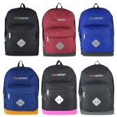 "24 Units of 17"" Kids Sport Backpacks in 6 Solid Colors - Backpacks 17"""