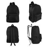 "24 Units of 17"" Kids Basic Black Backpacks - Backpacks 17"""