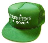 24 Units of 2020 Trump Pence Mesh Hats - kelly green - Baseball Caps/Snap Backs