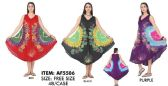 24 Units of Wholesale Tie Dye Muticolor Flower Rayon Umbrella Dresses - Womens Skirts