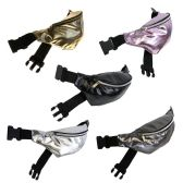 24 Units of Fanny Packs in 5 Assorted Metallic Prints - Fanny Pack